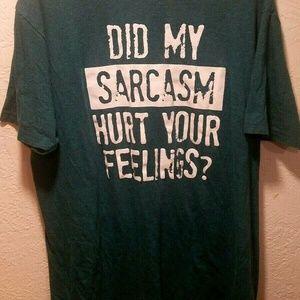Hybrid Mens Sz XL T Shirt Did My Sarcasm Hurt Your